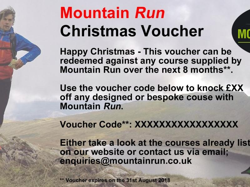 Mountain Run Gift Voucher Guided Run 18