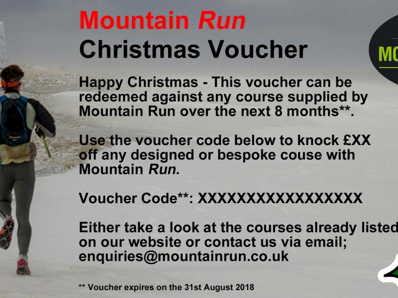 Mountain Run Gift Voucher Guided Run Template Christmas 17