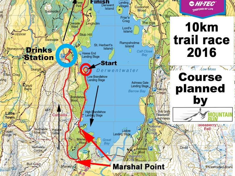Kmf 10Km Trail Race Route Map 2016